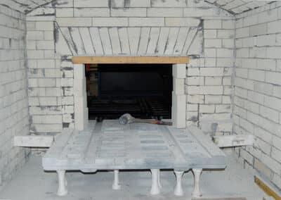 Atmosphärischer Ofen während der Renovierung